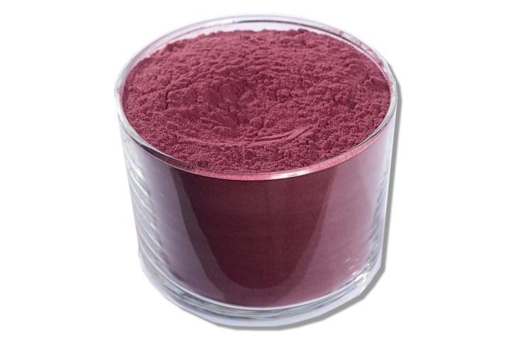vin rouge en poudre